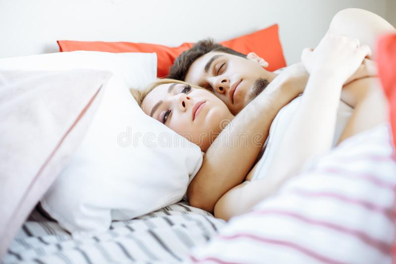 1 147 Couple Sleeping Hugging Bed Photos Free Royalty Free Stock Photos From Dreamstime
