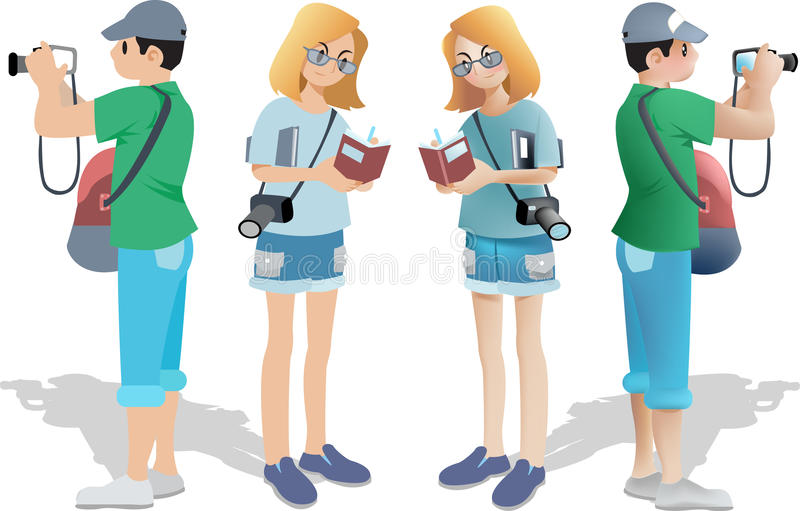 People and family traveling stock illustration