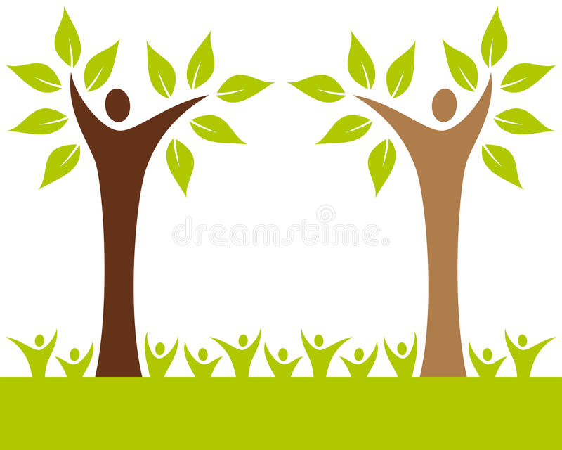 People Family Tree. Recycle, environment, ecology concept. Eps file available