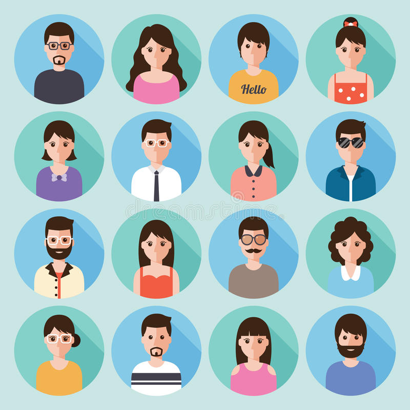 People flat icon royalty free illustration