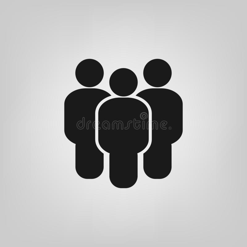 People flat style icon vector. Team work symbol. Group of humans sign For your web site design, logo, app, UI. illustration vector illustration