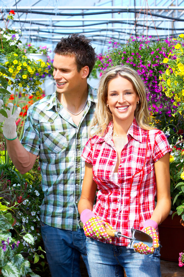 Download People florists stock photo. Image of horticulture, conservatory - 8514672