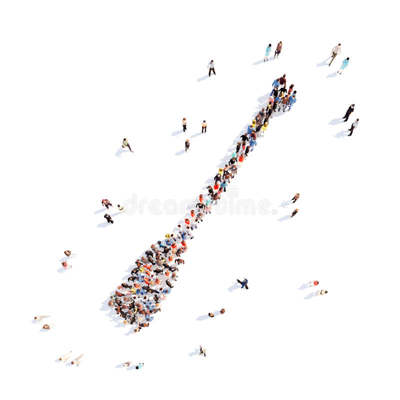 People in the form of oars vector illustration