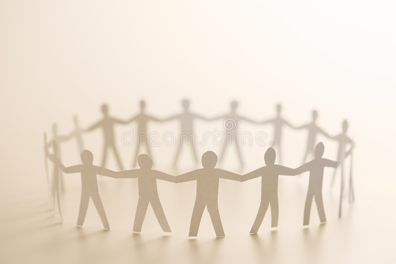 Download People forming circle stock photo. Image of cutout, community - 4413510