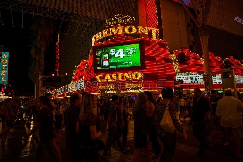 People on Fremont Street in Las Vegas. royalty free stock photo