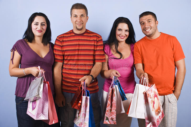 Download People Friends With Shopping Bags Royalty Free Stock Photos - Image: 10787808