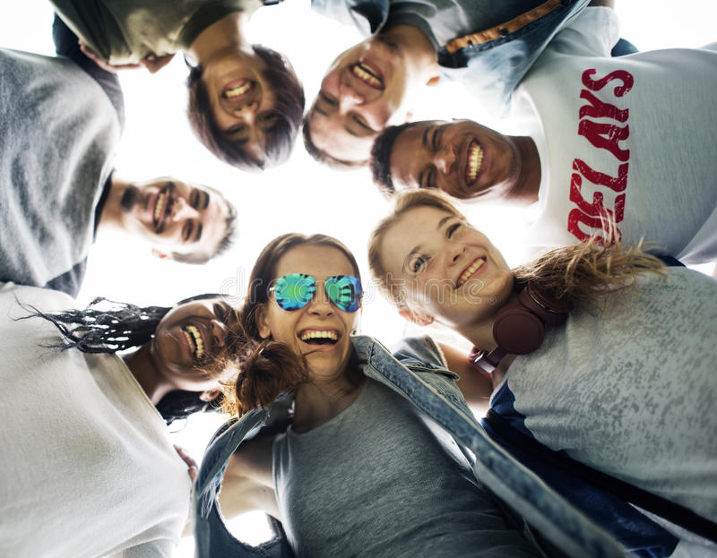People Friendship Togetherness Huddle Team Unity Concept royalty free stock image