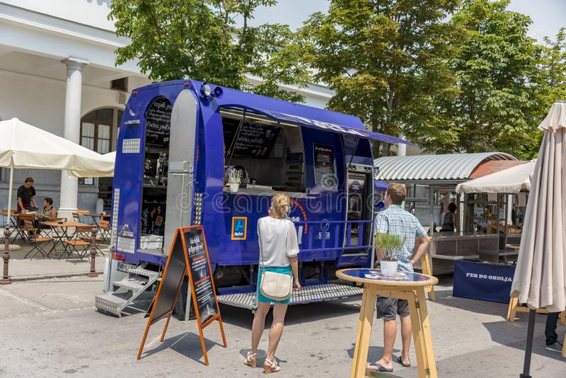 Food truck festival royalty free stock images