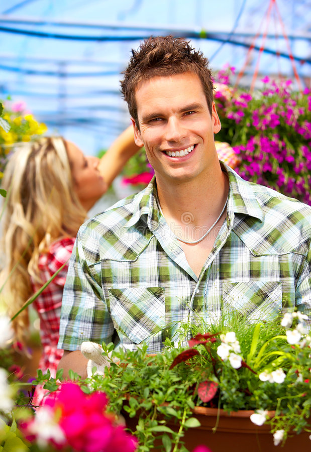 Download People in the garden stock image. Image of garden, girl - 7368513