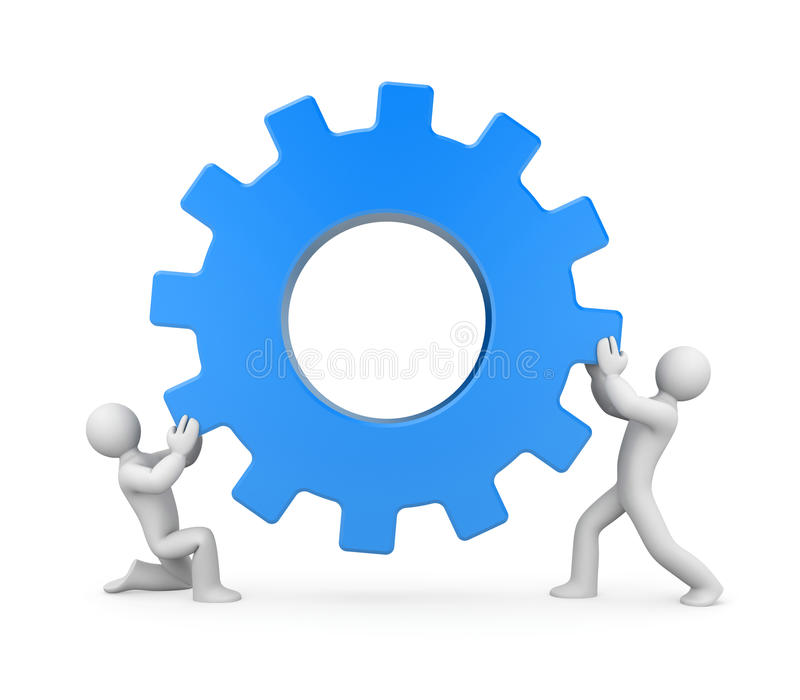 Download People with gear. Teamwork stock illustration. Image of cooperation - 25695773