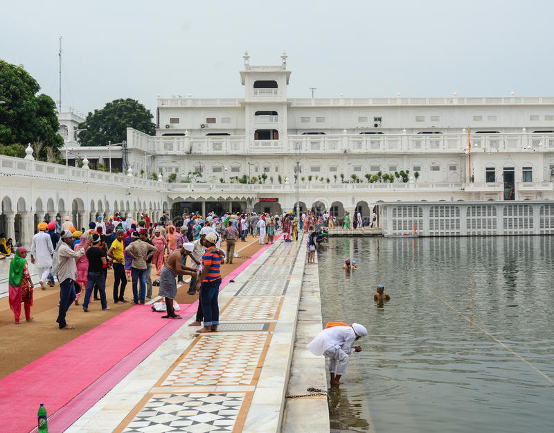 People at Golden Temple in Amritsar, India stock images