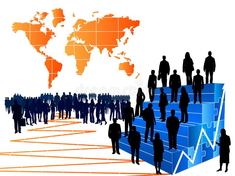 People and graph royalty free stock image