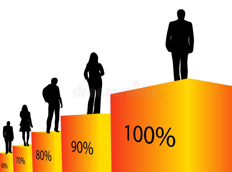 People and graph royalty free stock photo