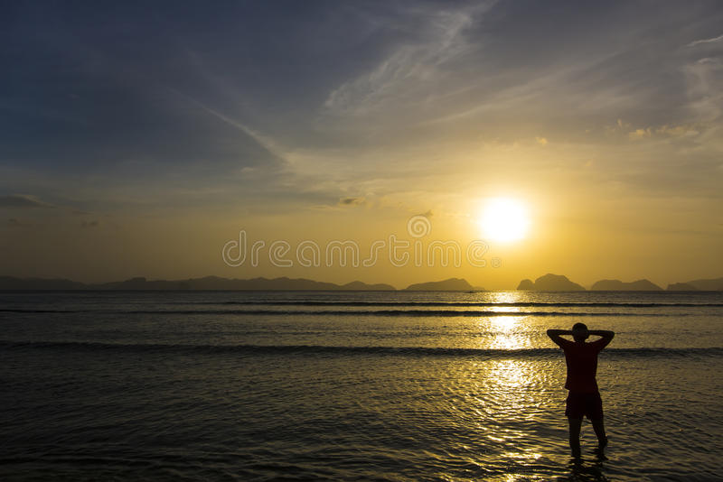 People greeted the dawn stock images