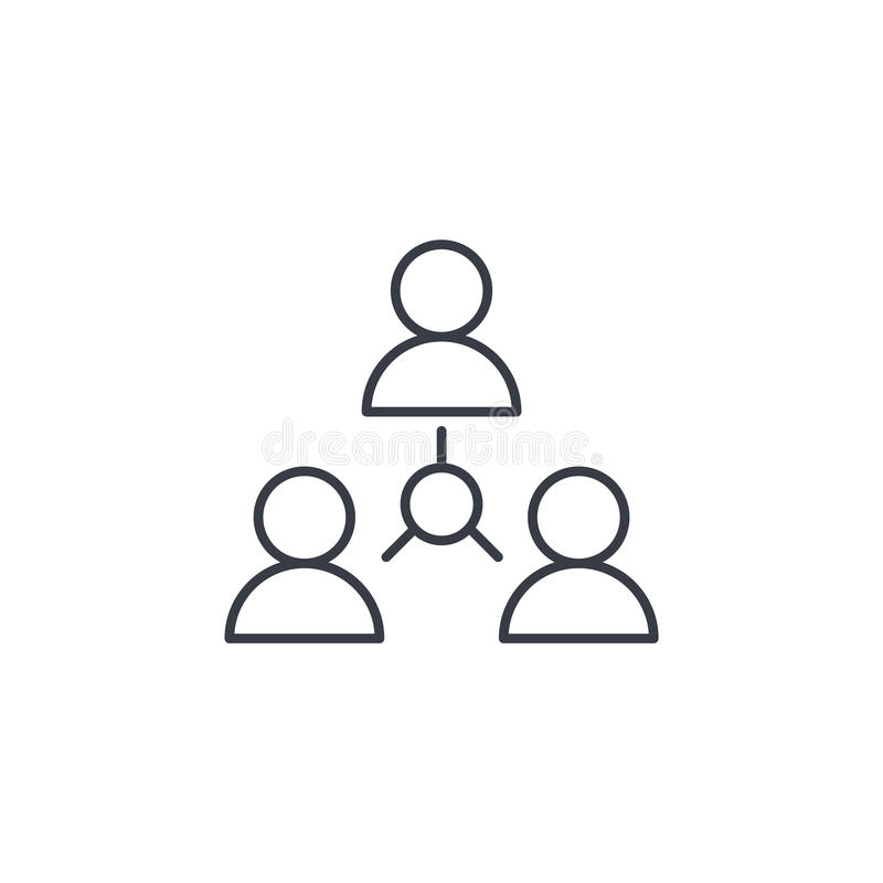 People group, community, network thin line icon. Linear vector symbol. People group, community, network thin line icon. Linear vector illustration. Pictogram stock illustration