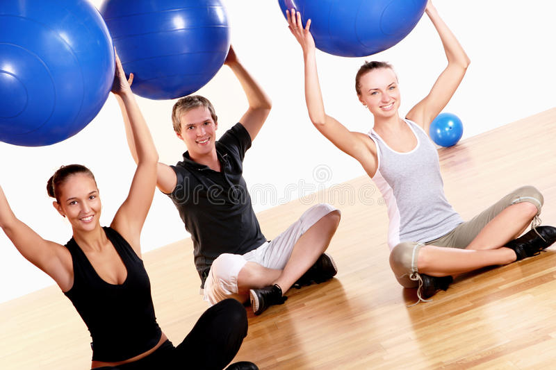 Download People Group  Doing Fitness Exercises Stock Photo - Image: 14851328