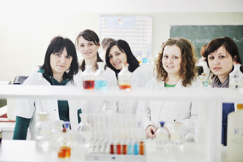 Download People Group In Lab Royalty Free Stock Photos - Image: 14010448
