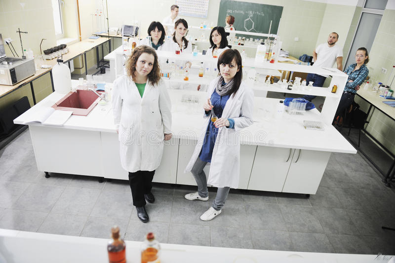 Download People Group In Lab Stock Image - Image: 14010491