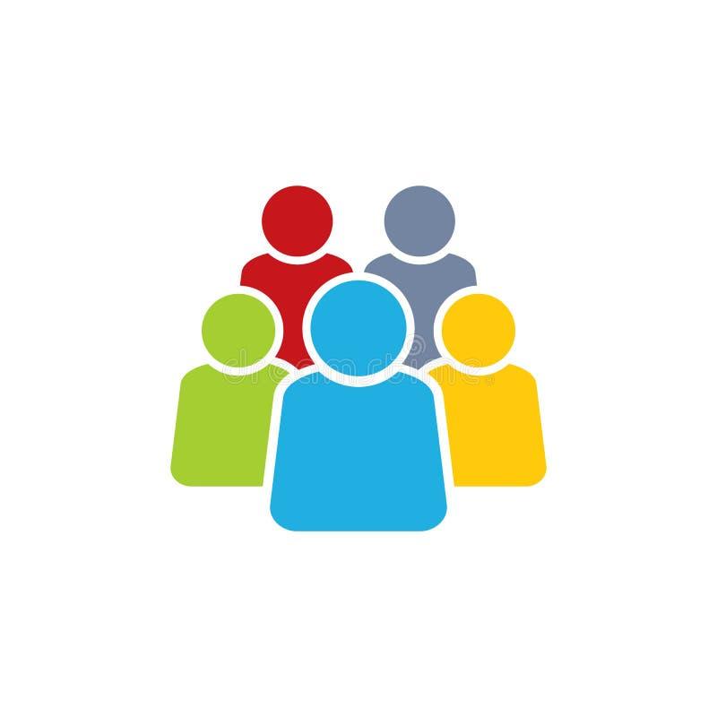 People Group Logo Icon Design royalty free illustration