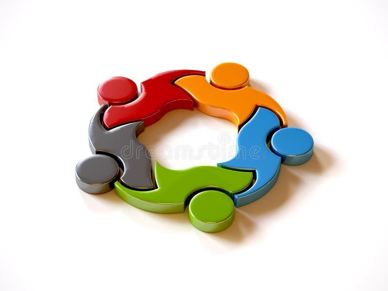 People Group Teamwork Logo. royalty free illustration