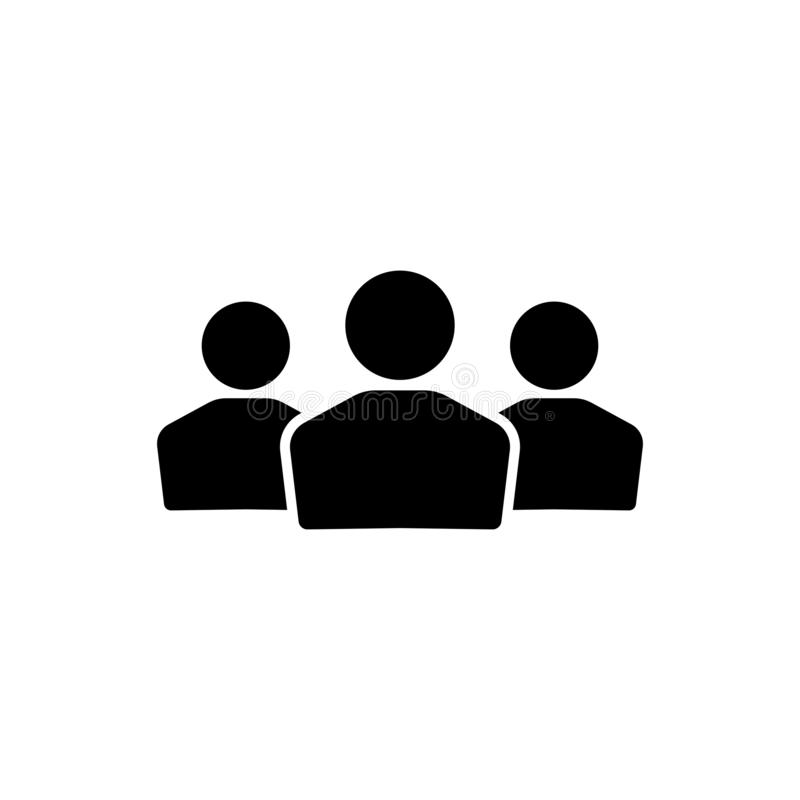People group vector icon isolated on white background 8 royalty free illustration