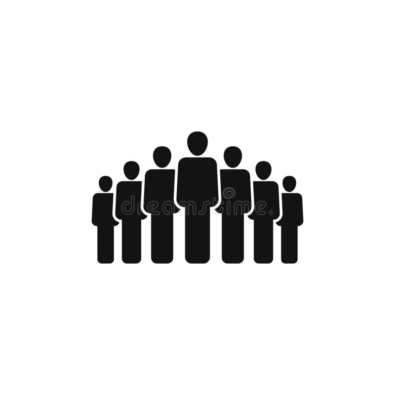 People group vector icon isolated on white background 3 stock illustration