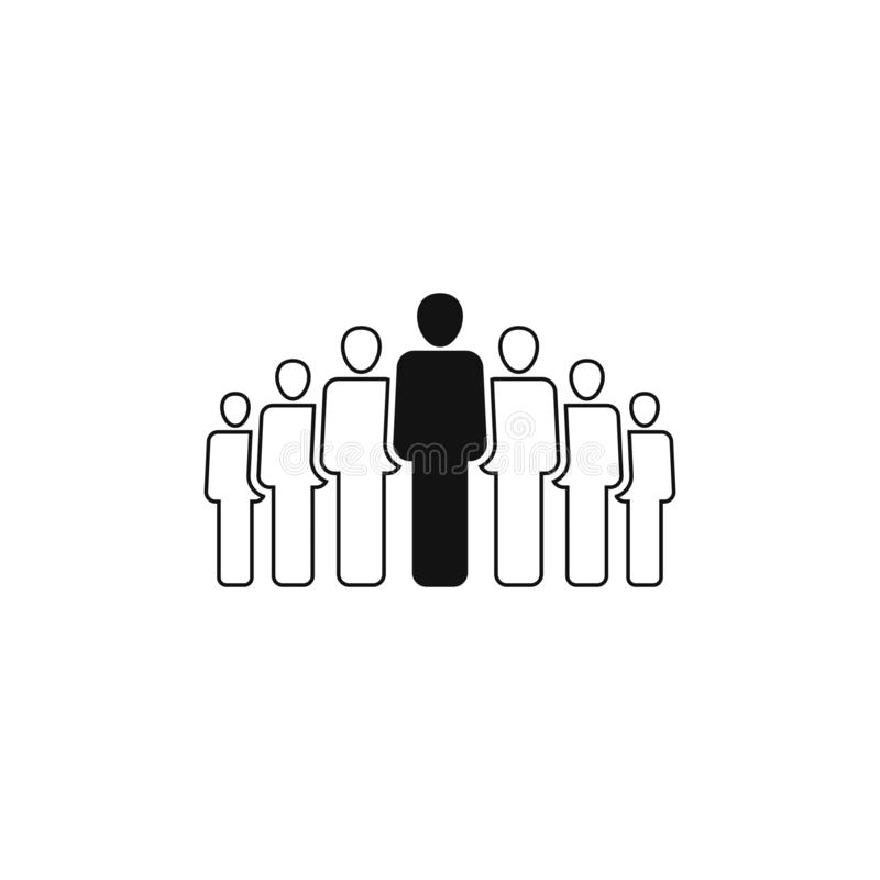 People group vector icon isolated on white background 4 vector illustration