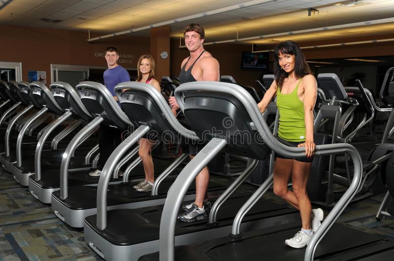 People at the Gym royalty free stock photography