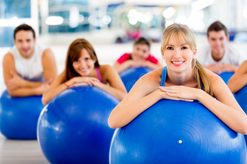 Download People at the gym stock photo. Image of joyful, hispanic - 25837508