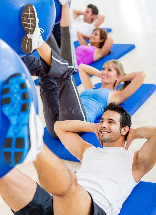Download People at the gym stock photo. Image of happy, athletic - 25980302