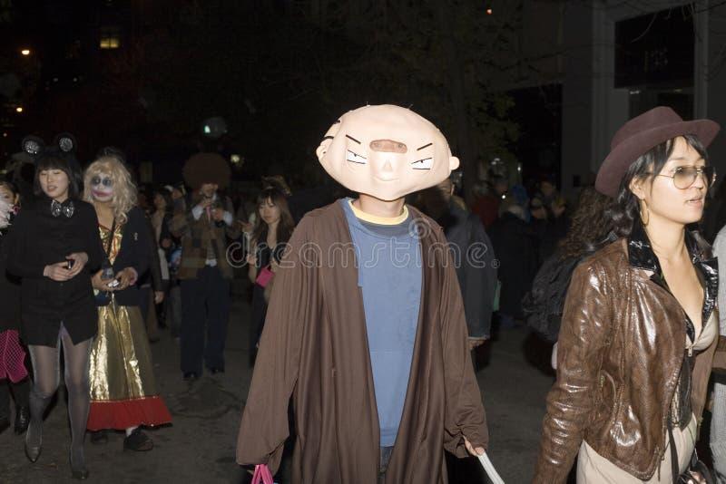 People On Halloween Parade Editorial Stock Photo
