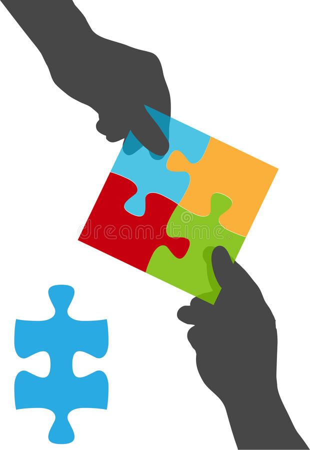 Download People Hands Team Collaboration Puzzle Solution Stock Vector - Illustration: 22108880