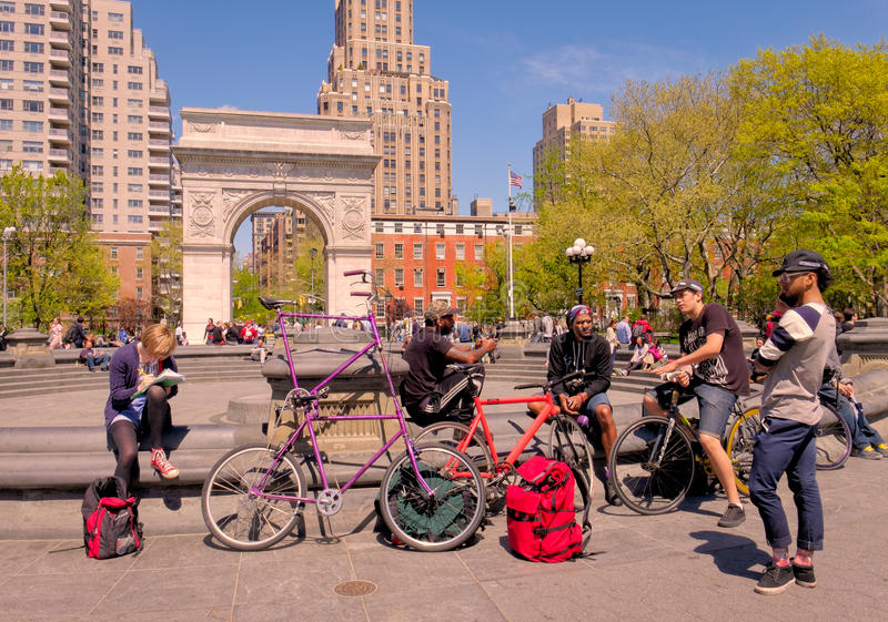People, Washington Square Park, New York royalty free stock photo