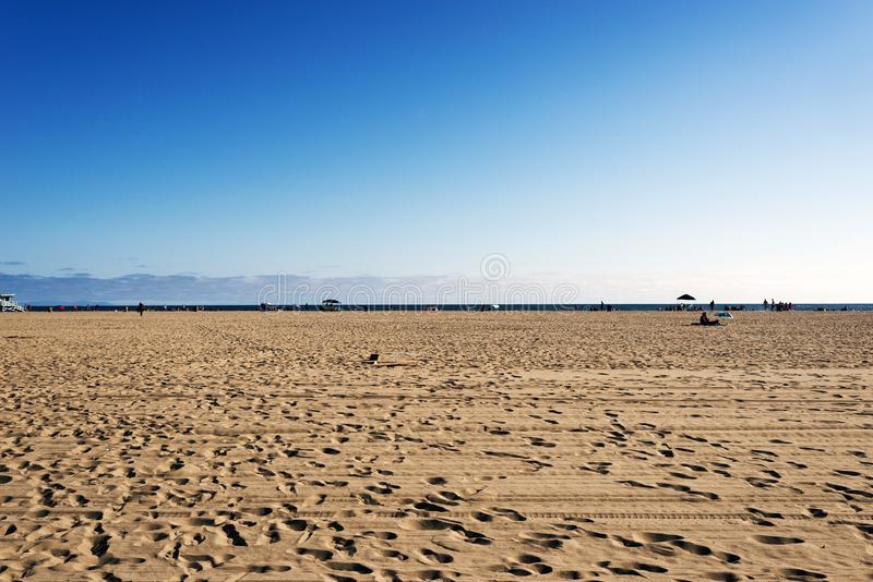 People hanging out and playing in Venice beach, California.  stock image