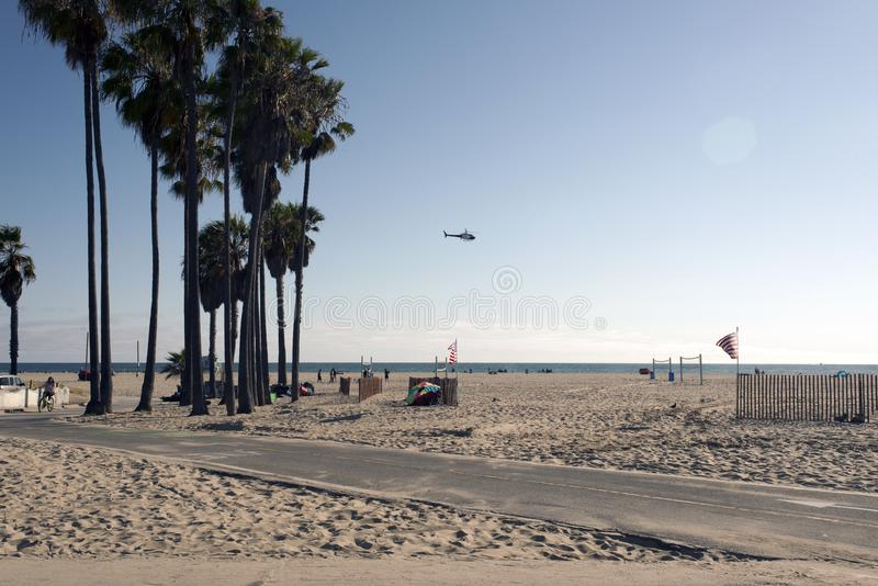 People hanging out and playing in Venice beach, California.  royalty free stock photography