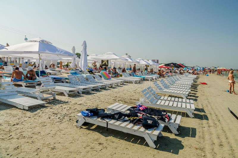People Have Fun At The Black Sea royalty free stock photo