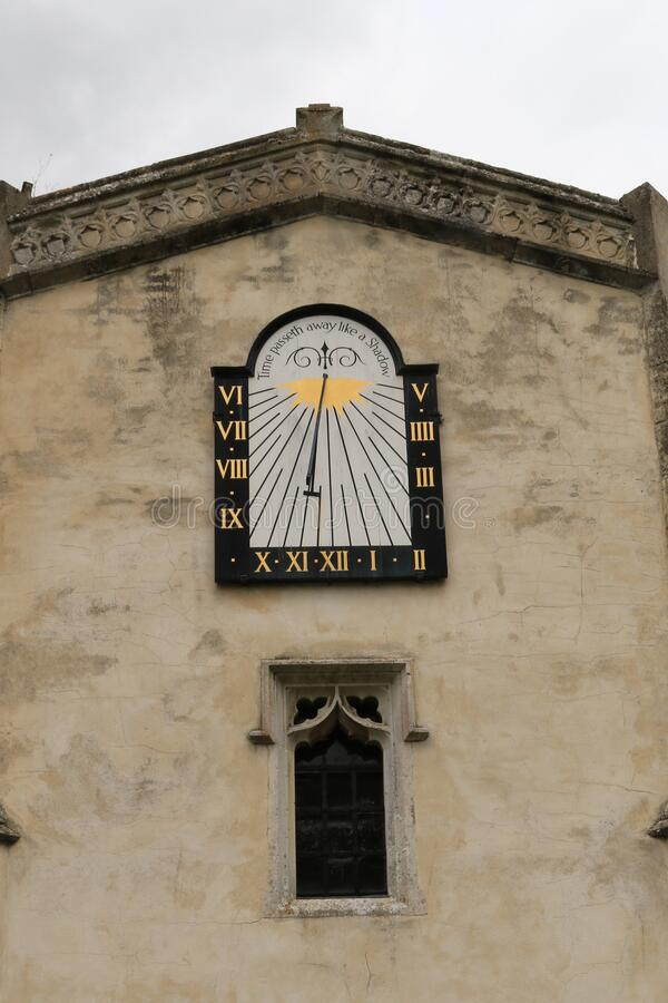 St Mary the Virgin, East Bergholt Sun Dial stock photos