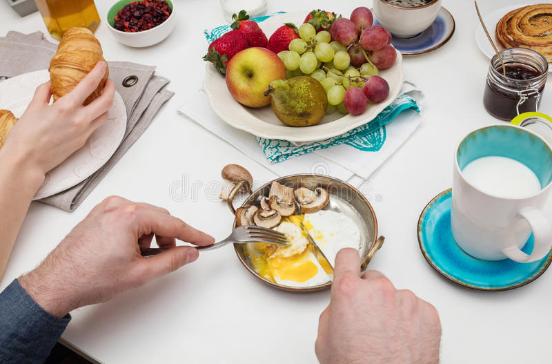 People having breakfast royalty free stock images