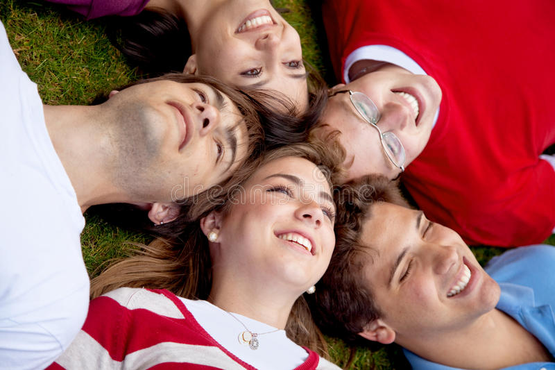 Download People with heads together stock image. Image of floor - 11105683