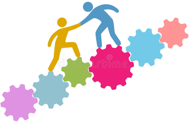 People help connect join technology royalty free illustration