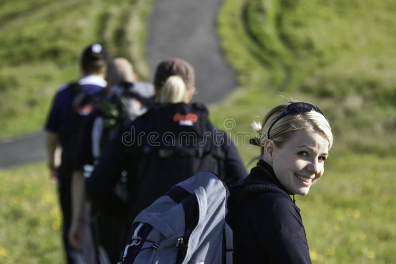 People hiking royalty free stock photography