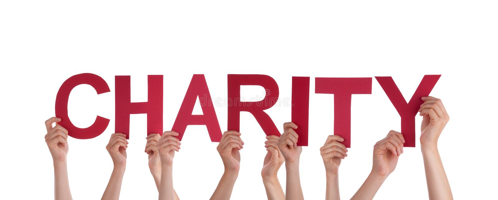 People Holding Charity royalty free stock image