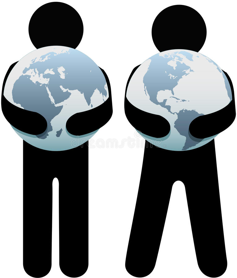 People Holding Earth Environment Hug Royalty Free Stock Photography