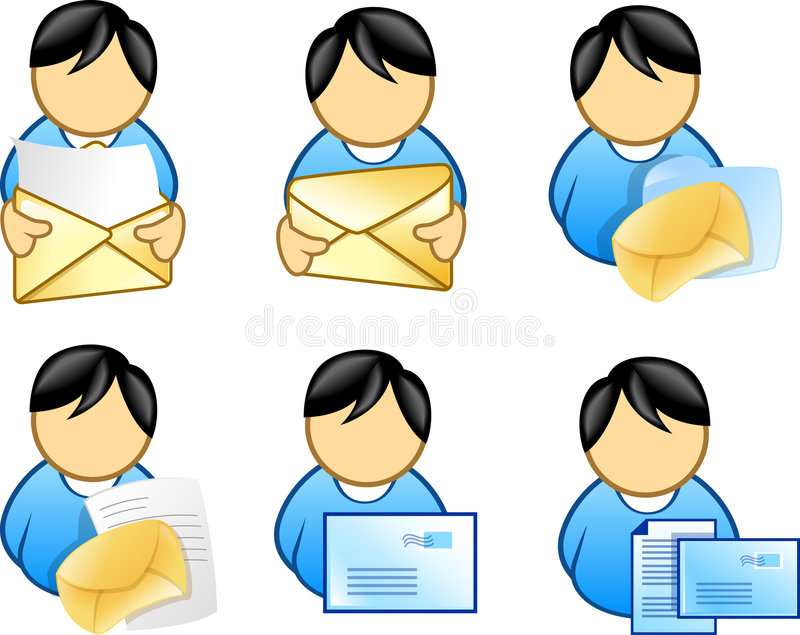 People holding email icon royalty free illustration