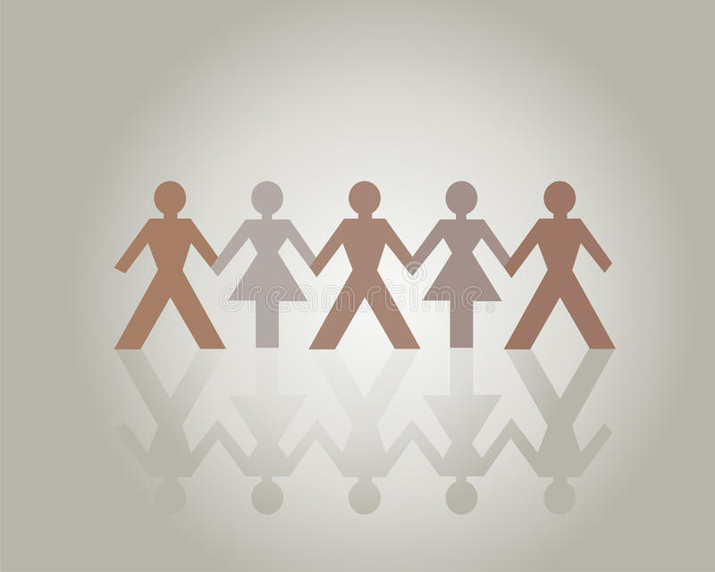 People Holding Hands stock illustration