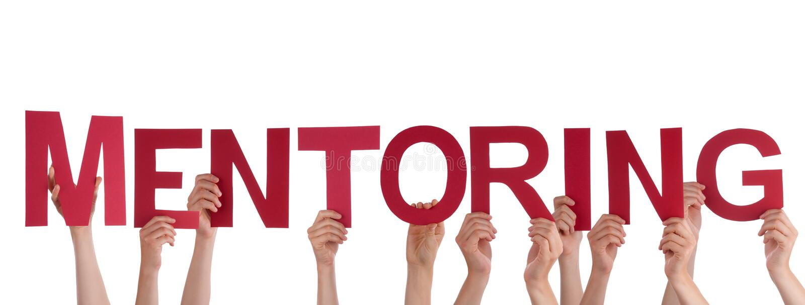 People Holding Mentoring royalty free stock photo