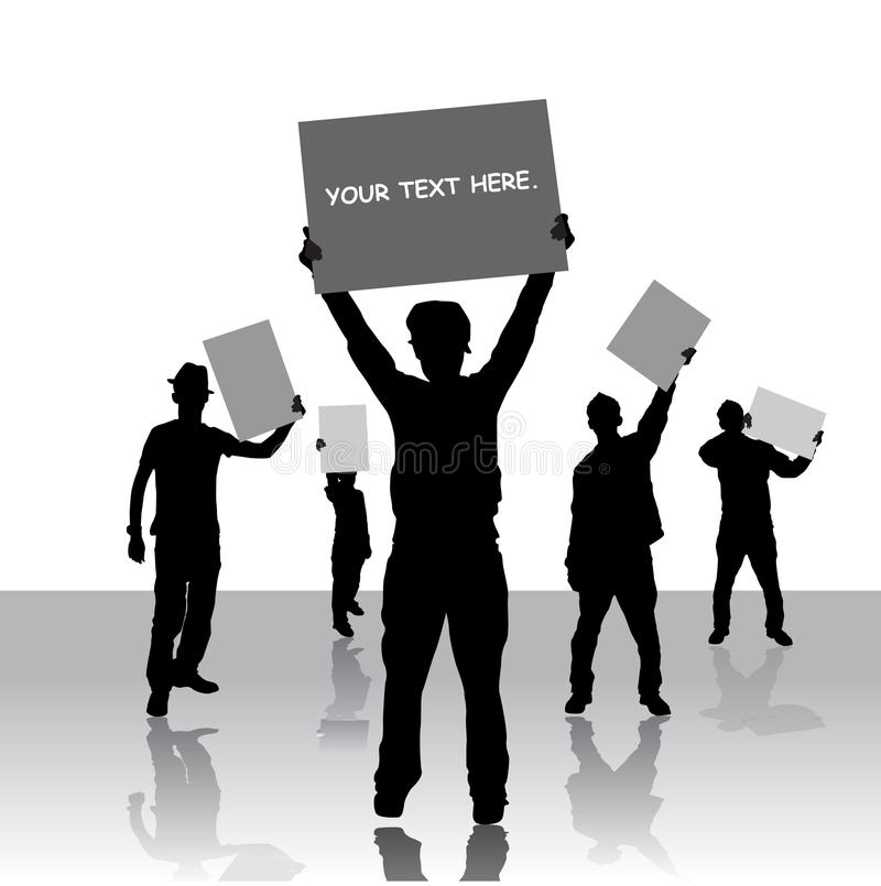 People Holding Message Board Stock Photos