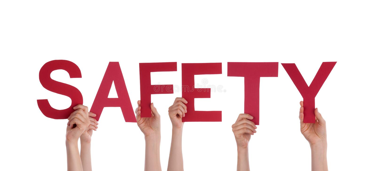 People Holding Safety stock photos