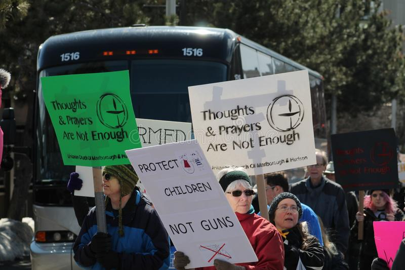 March for Our Lives Rally Worcester, MA March 2018 stock photos