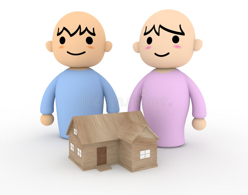 People Home stock illustration